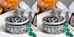 Eiffel Tower - Trinket Box w/Crystals - SET of 2