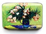 "Credit Card Case (Armor Wallet) ""Vase w/Oleanders and Books """