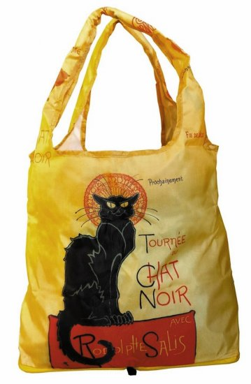 "Tote Bag - Fine Art Design - ""Chat Noir"" - Fabric Tote - Click Image to Close"