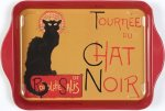 "Tray - ""Chat Noir"" - Tin 8 1/4"" x 5 1/2"""