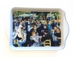 "Tray - ""Dance at Le Moulin de Galette"" - 8 1/4"" x 5 1/2"" - Tin"