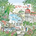 "Napkin/Luncheon - ""La Cote d'Azur"" - French Riviera Artwork"