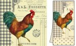 Gift Set - French Rooster Luncheon Napkins & Dish Towel