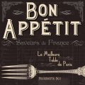 "Napkin/Luncheon - ""Bon Appetit"" - Table de Paris"