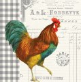 "Napkin/Luncheon - ""French Rooster"" w/Paris Postmark"