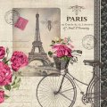 "Napkin/Luncheon - ""Velo Parisien"" - French Inspired Design"
