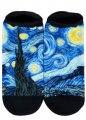 "Socks - Ankle- Wearable Fine Art -""Starry Night"" by Van Gogh"
