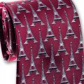 Neck Tie - Eiffel Tower Design - Silk by Josh Bach