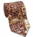 Neck Tie - City of Paris Map Design - Silk by Josh Bach