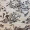 ~Tissue paper - French Toile - Black Design on Cream (30 ct)