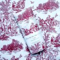 ~Tissue Paper - French Toile - Burgundy on Off White (10 ct)