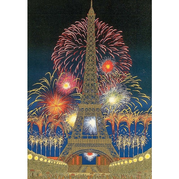~Card - Birthday - Eiffel Tower with Fireworks