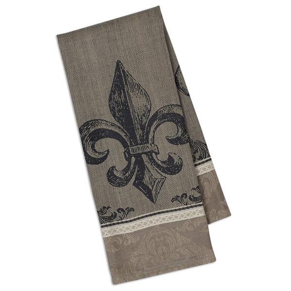Dish towel fleur de lis design jacquard weave 100 cotton 533 french presents - Fleur de lis bath towels ...
